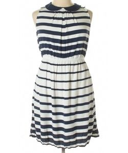 Elle Striped Peter Pan Collar Dress
